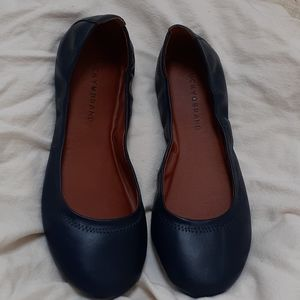 New Lucky Brand Navy Blue Flats 9 Wide
